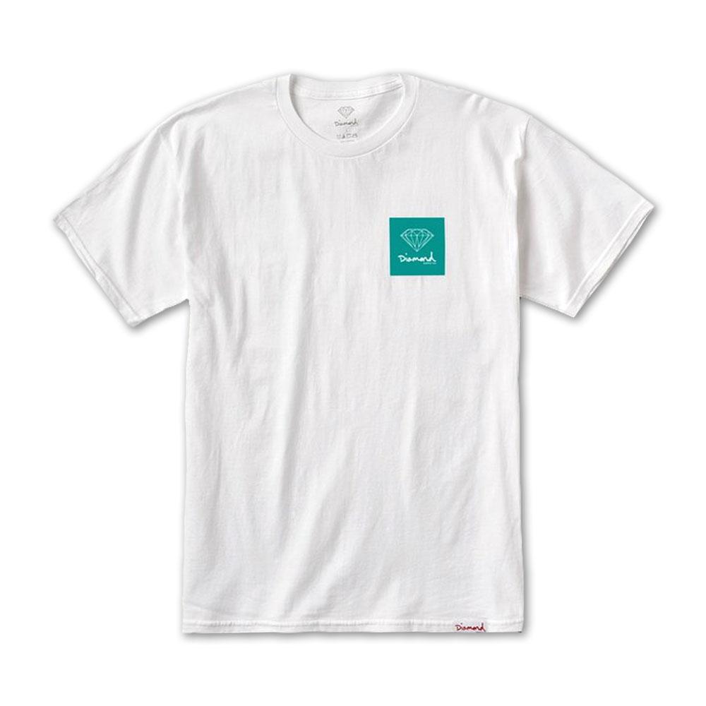 Diamond Supply Co Mini OG Sign T-shirt White Green