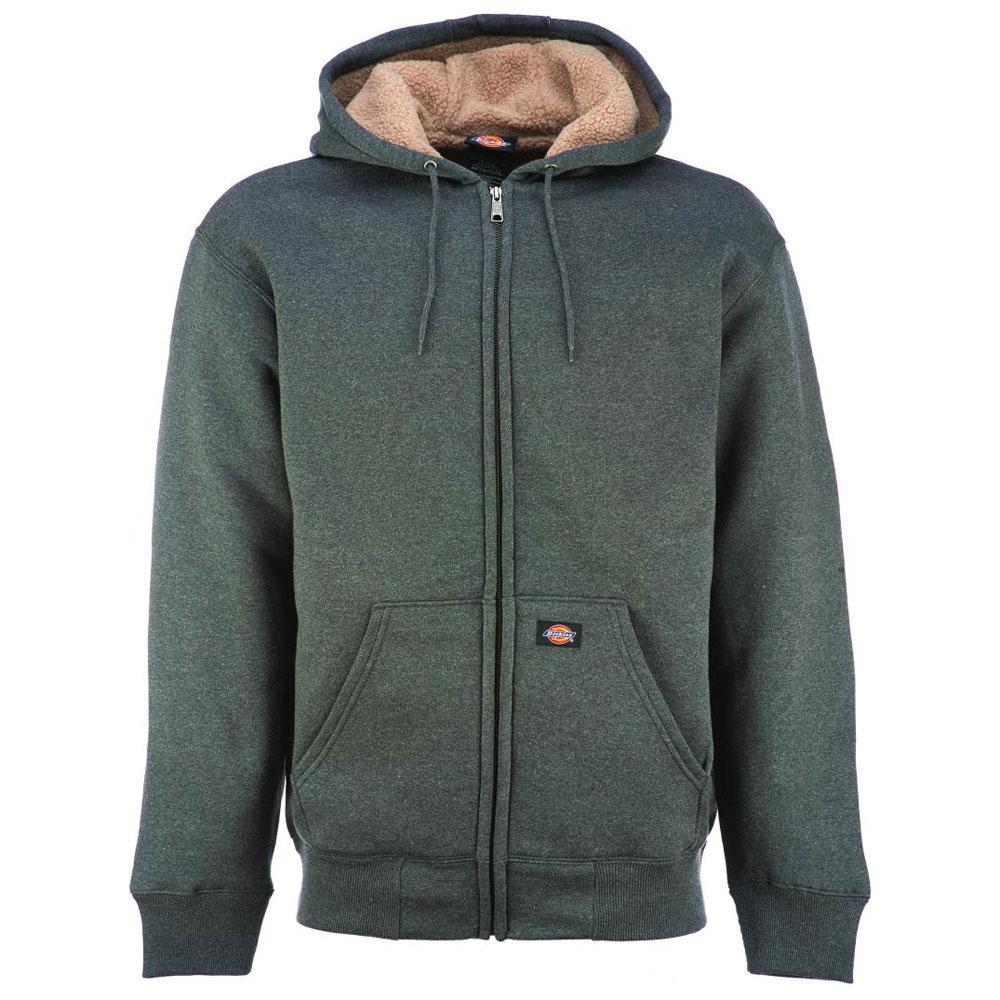 Dickies Sherpa Lined Fleece Hoodie Grey