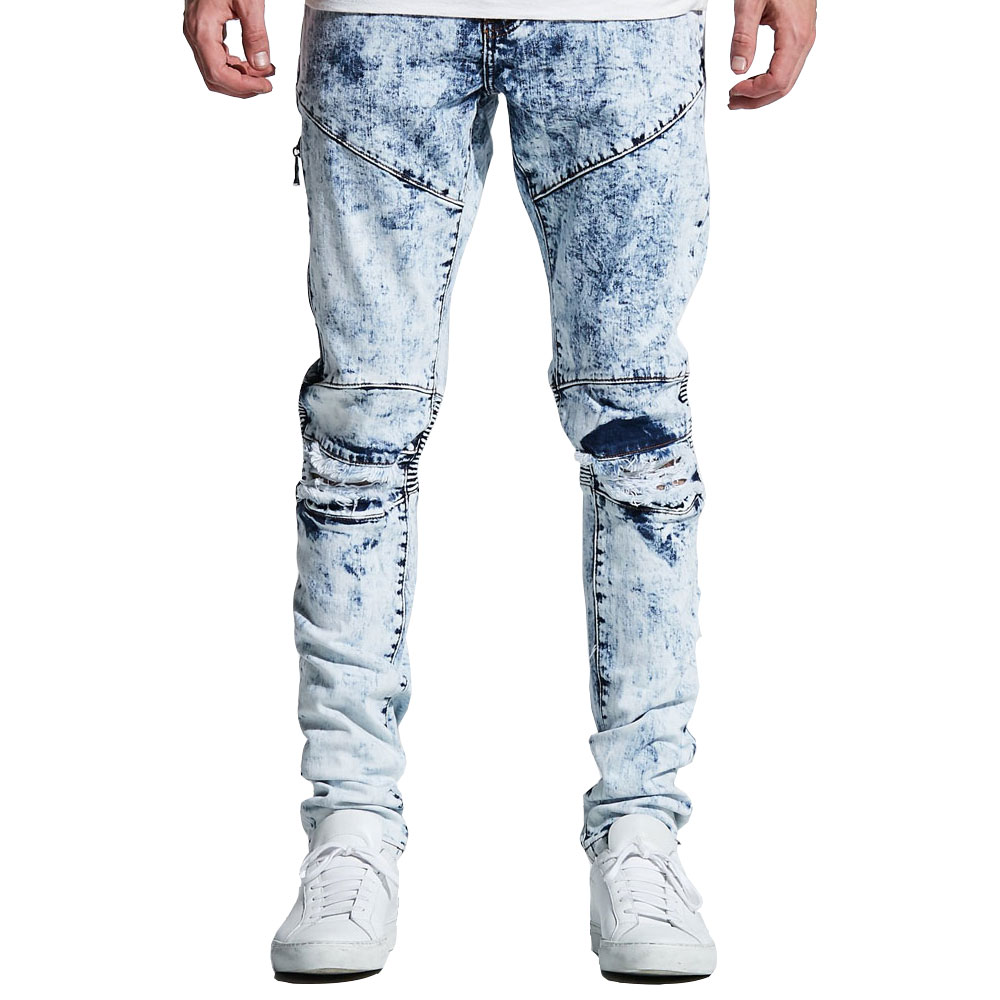 Embellish Mackenzie Ripped Denim Jeans Blue Bleach