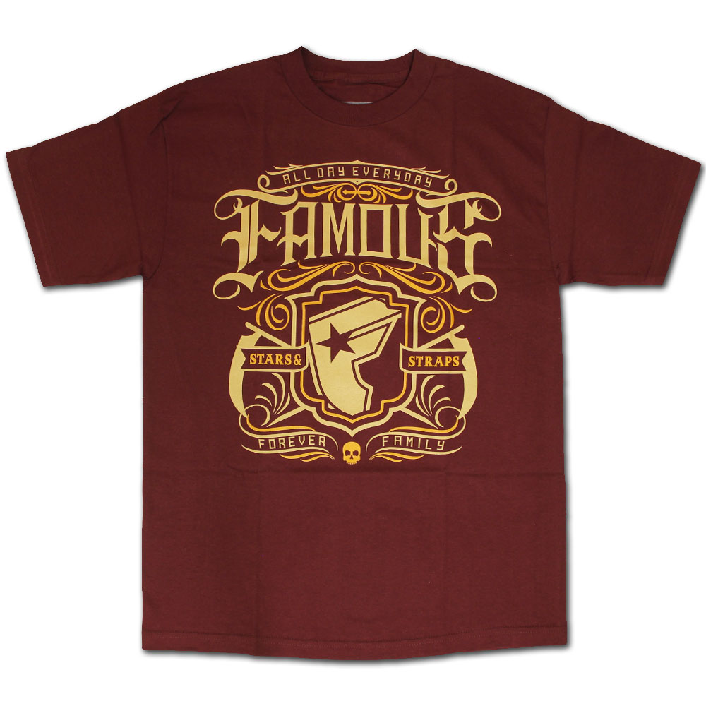Famous Stars and Straps Everyday T-shirt Burgundy