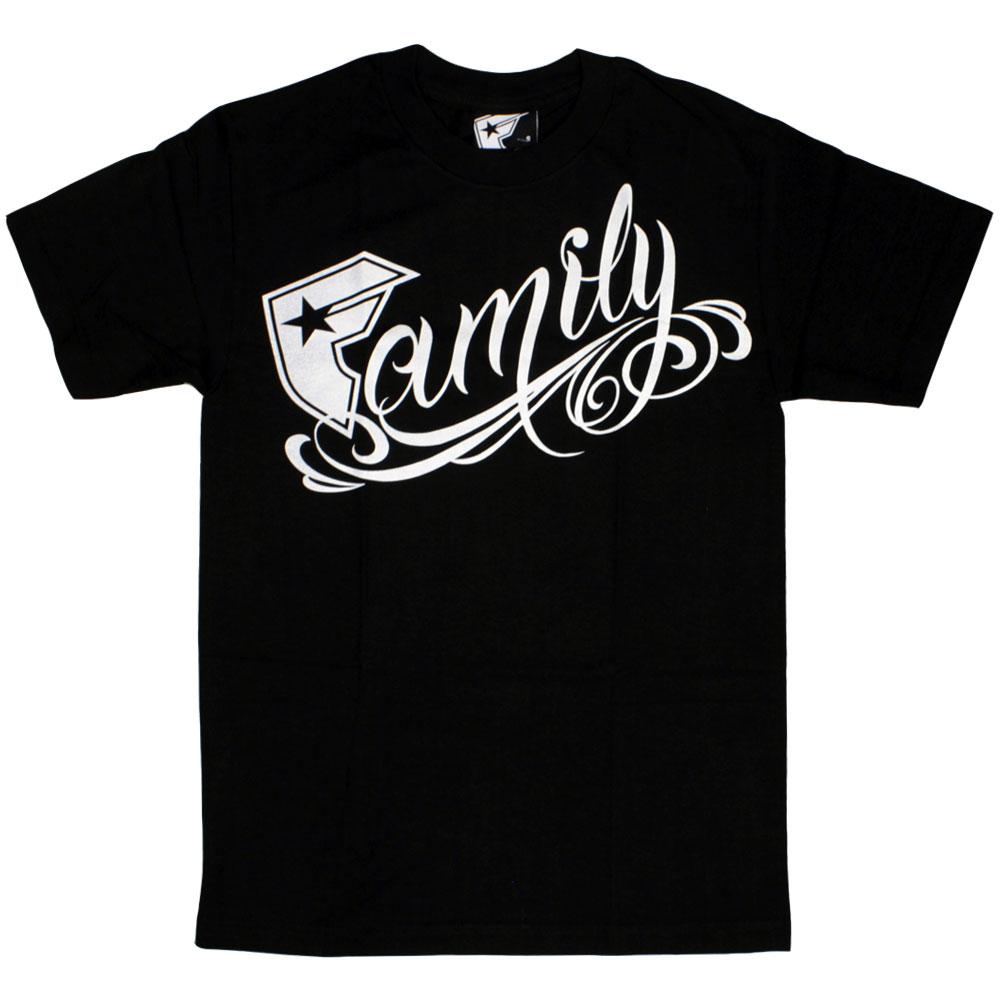 Famous Stars and Straps Family T-shirt Black White