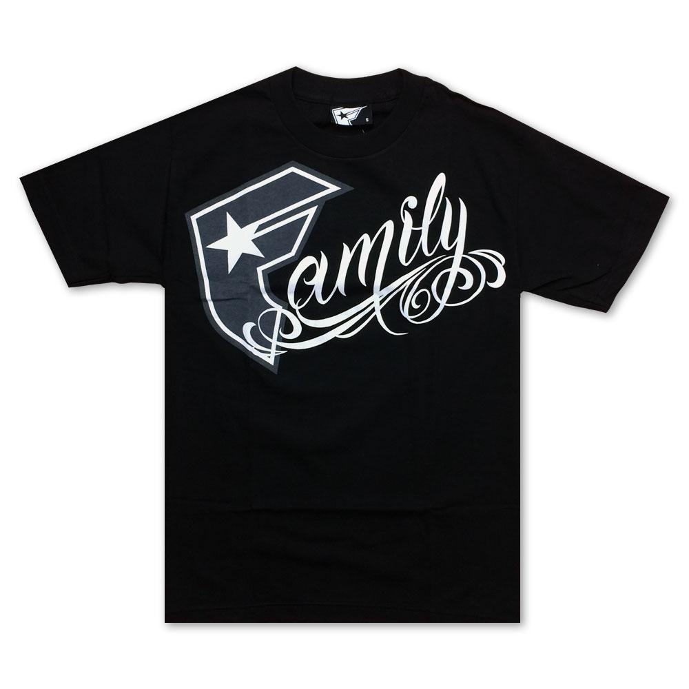Famous Stars and Straps BOH Family T-Shirt Black White