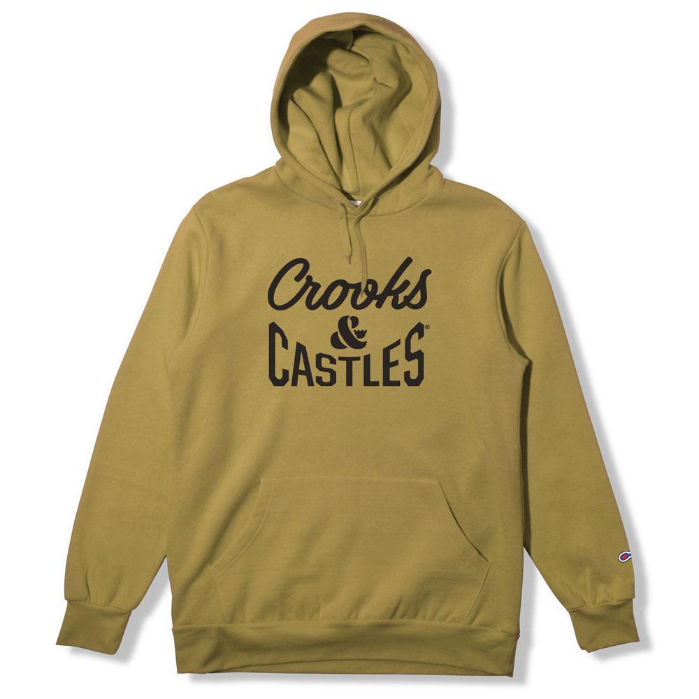Crooks & Castles Fleece Pullover Hoodie Timber