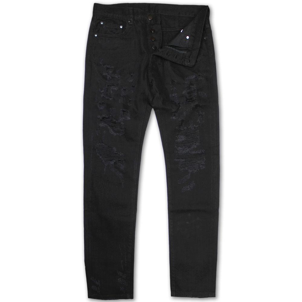 Dope Couture Franklin Tapered Denim Jeans Black