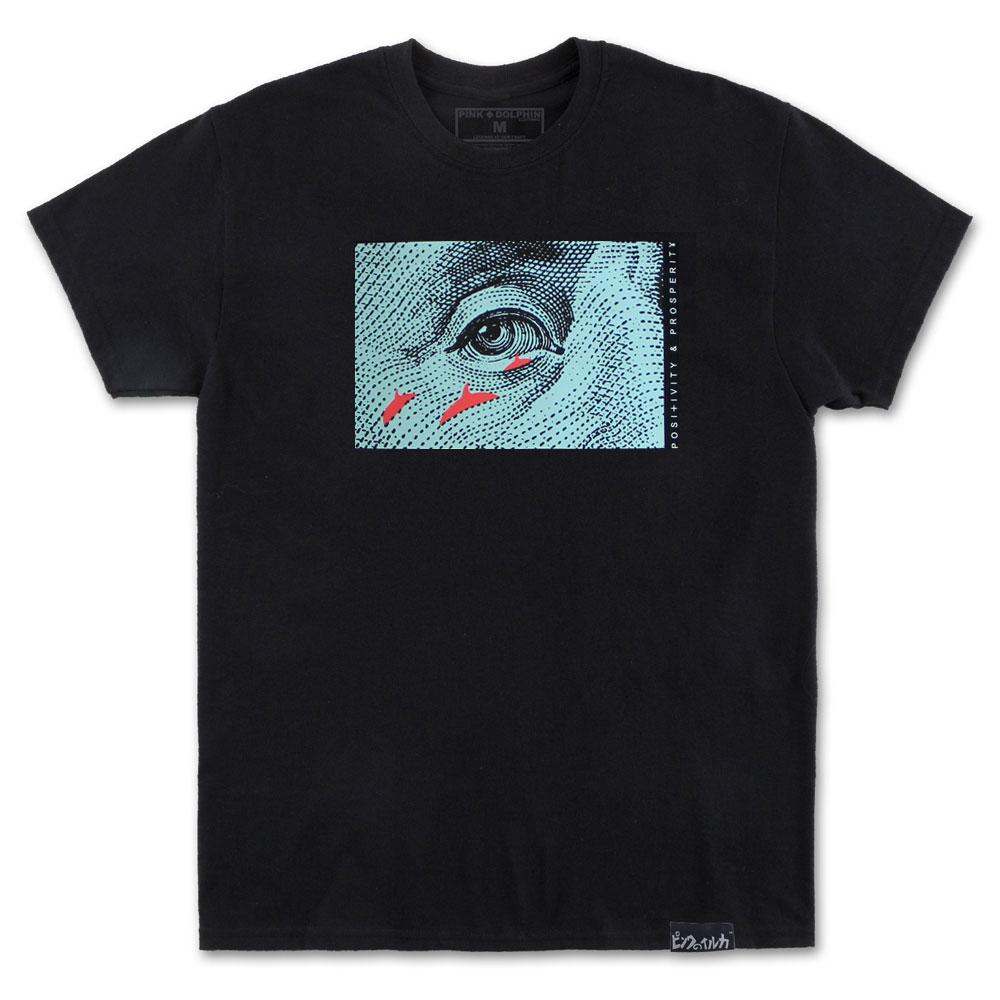 Pink Dolphin Franklin T-Shirt Black