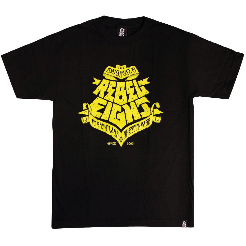 Rebel8 Ghetto Pass T-shirt Black