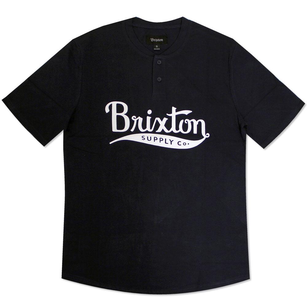 Brixton Gomez Henley T-Shirt Navy