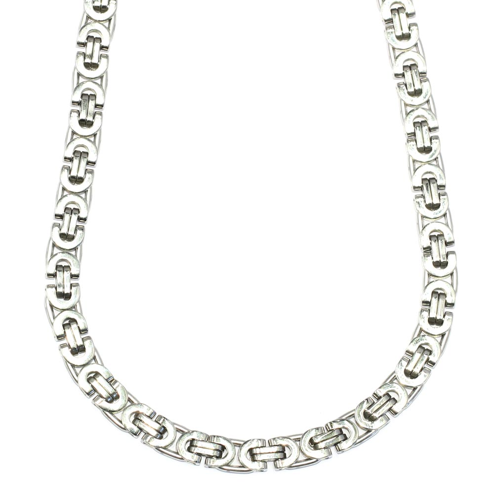 Silver Plated Gucci Link Chain, 36 Inches