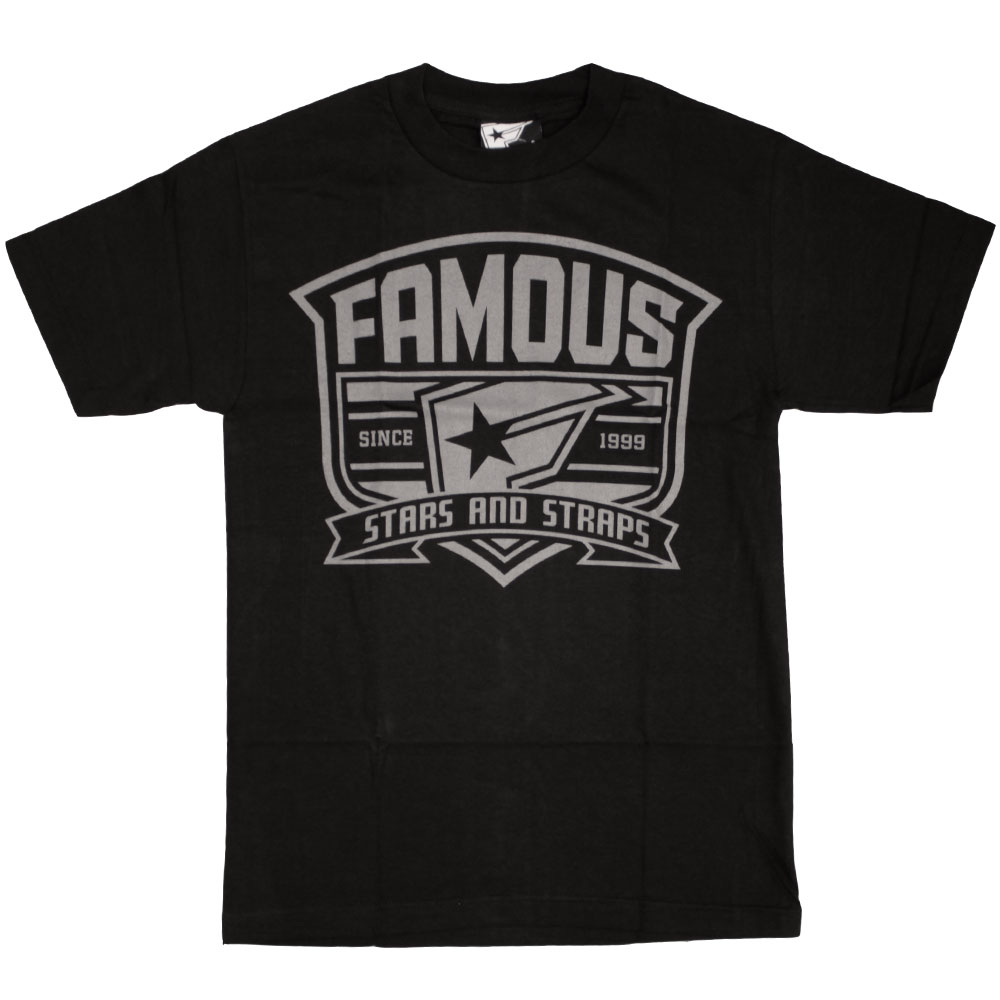 Famous Stars and Straps High Crest T-shirt Black Grey
