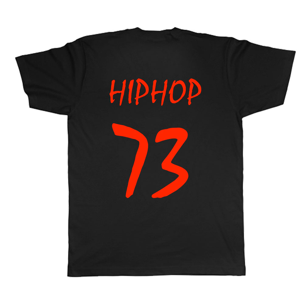 HIPHOP73 Dope T-Shirt Black Red