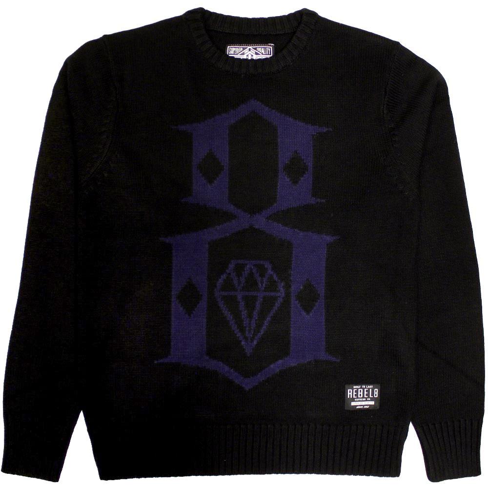 REBEL8 Huxtable Mens Crewneck Sweatshirt Black