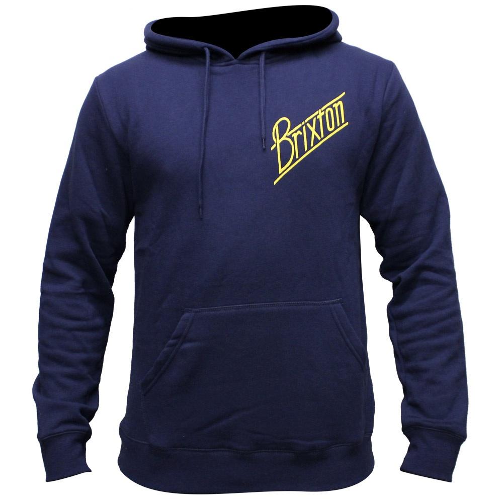 Brixton Wilson Fleece Pullover Hoodie Navy