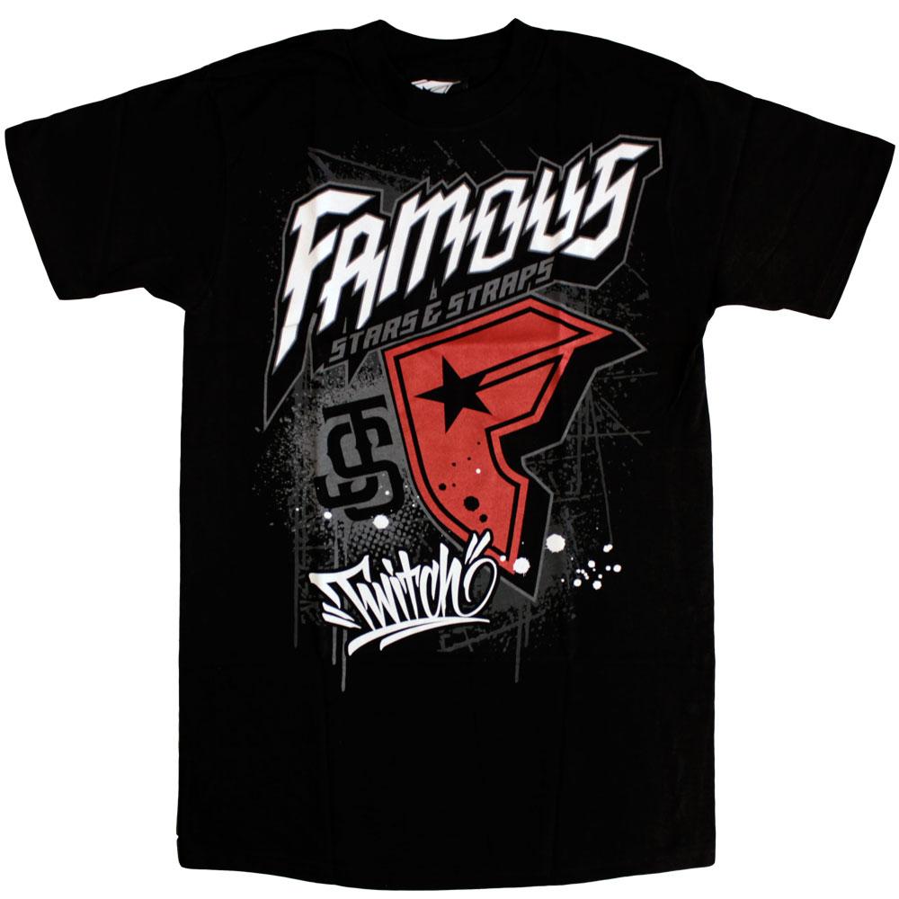 Famous Stars and Straps Js Snatcher T-Shirt Black