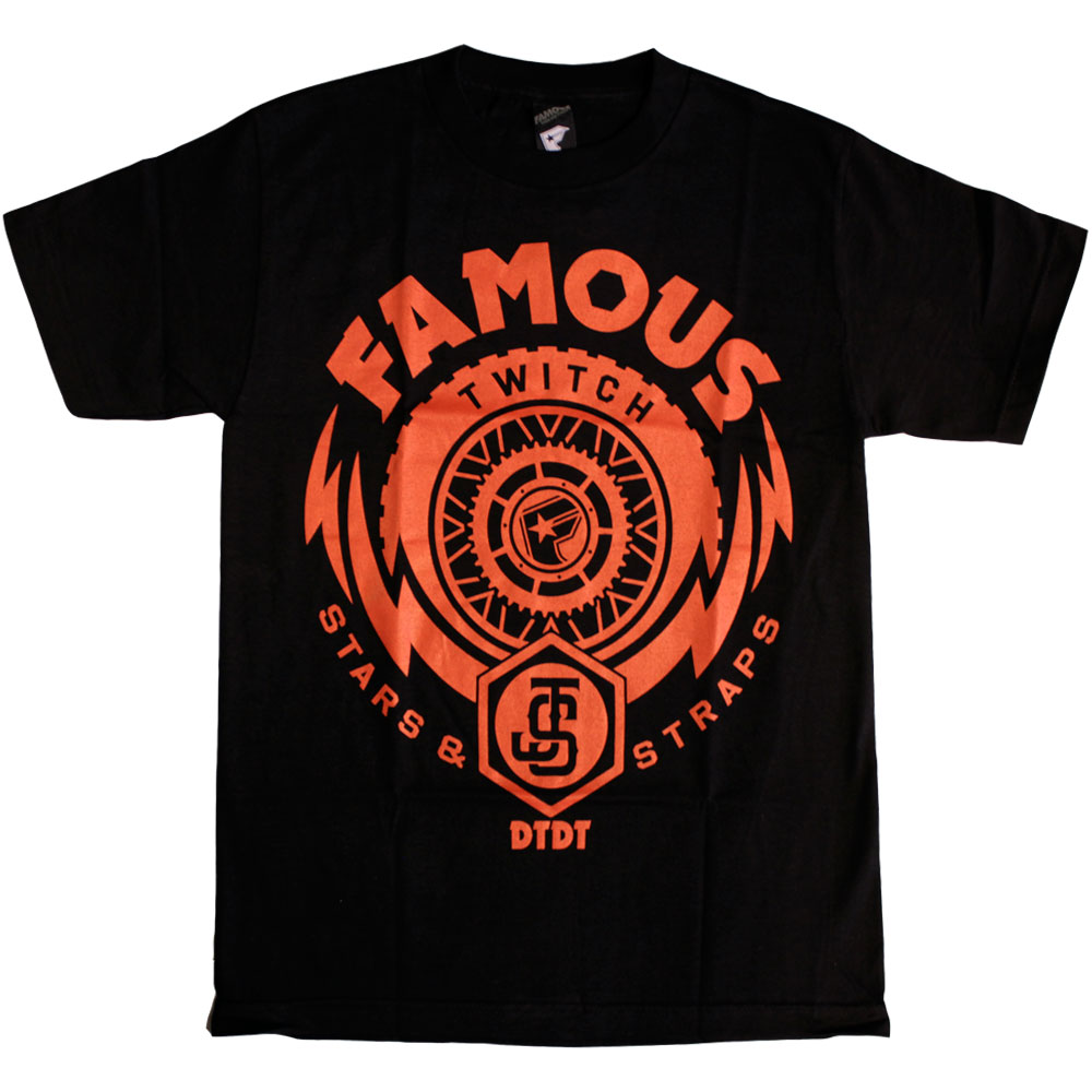Twitch Famous Stars and Straps Js Thunder T-Shirt Black Red