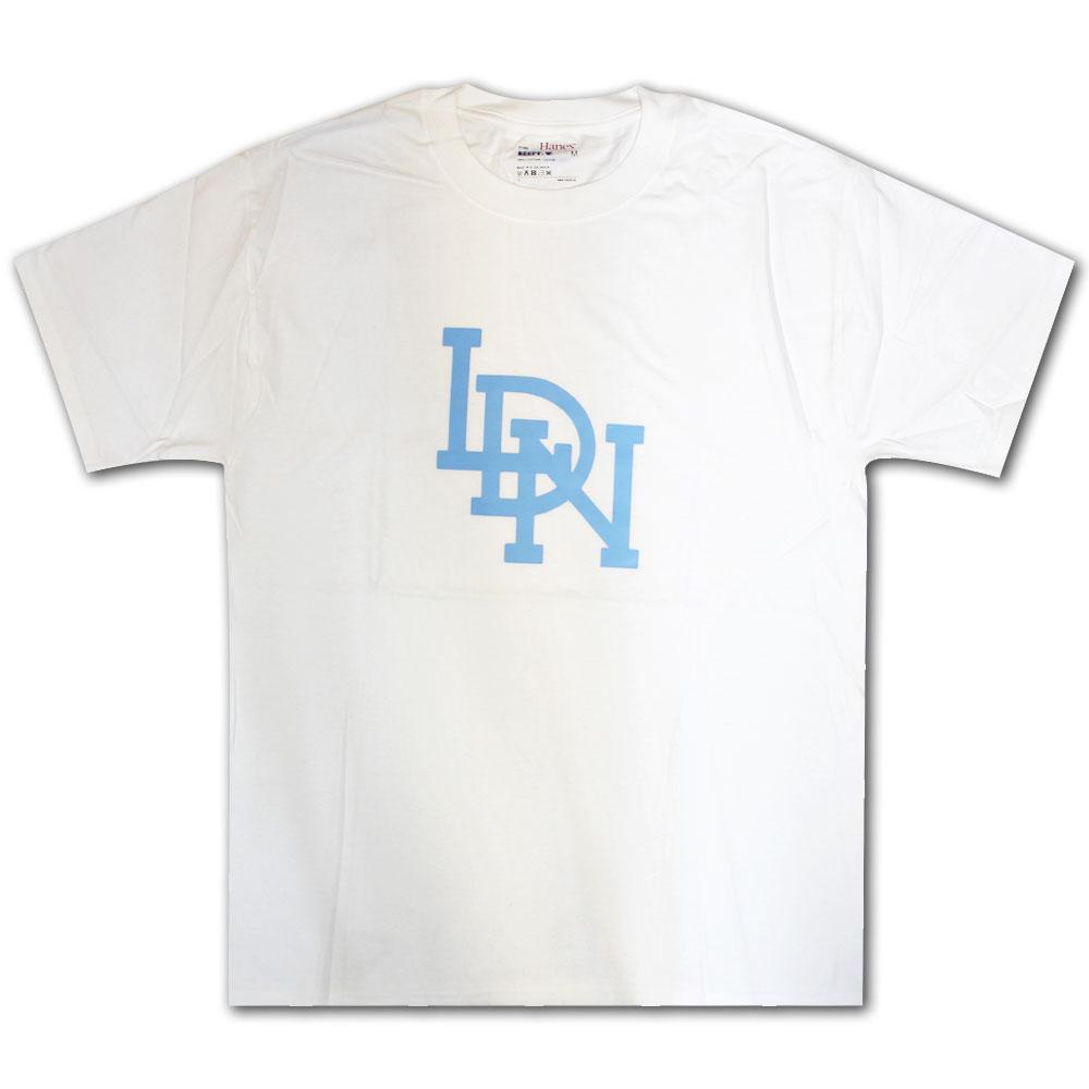 LDN Original T-Shirt White Sky Blue