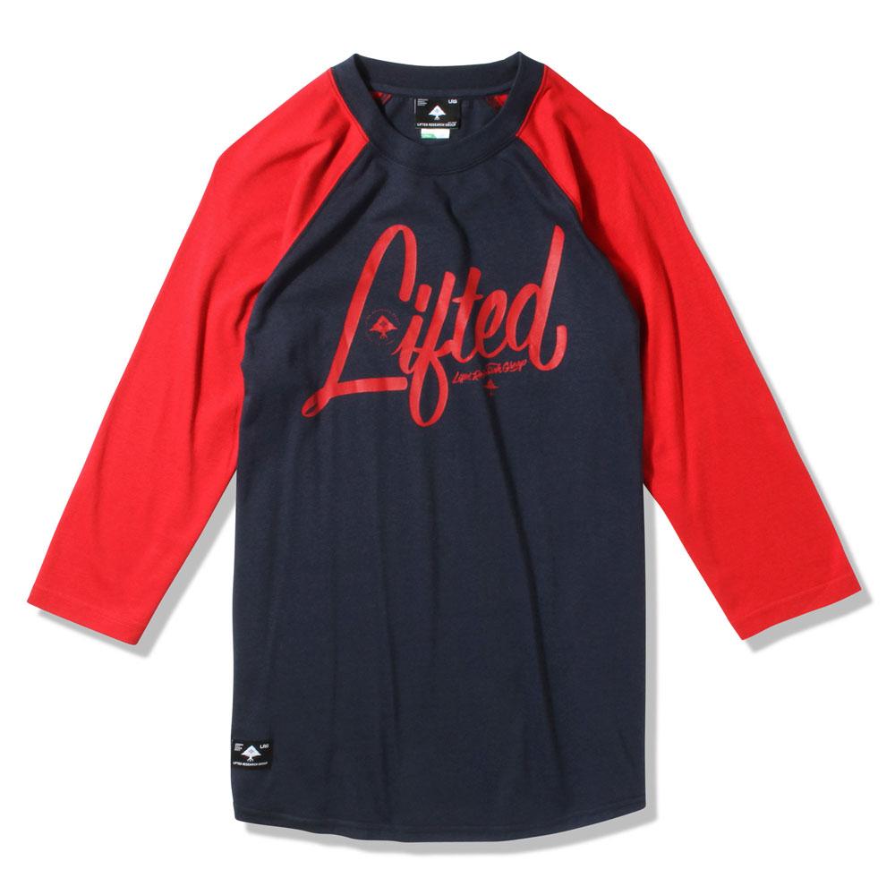 Lrg RC Three Quarter Sleeve Raglan Baseball T-Shirt Navy