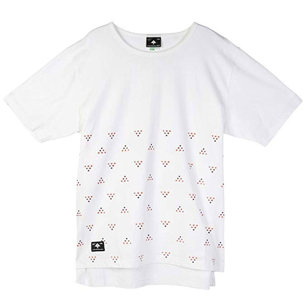 LRG Half Ditzy Knit Drop Tail T-shirt White