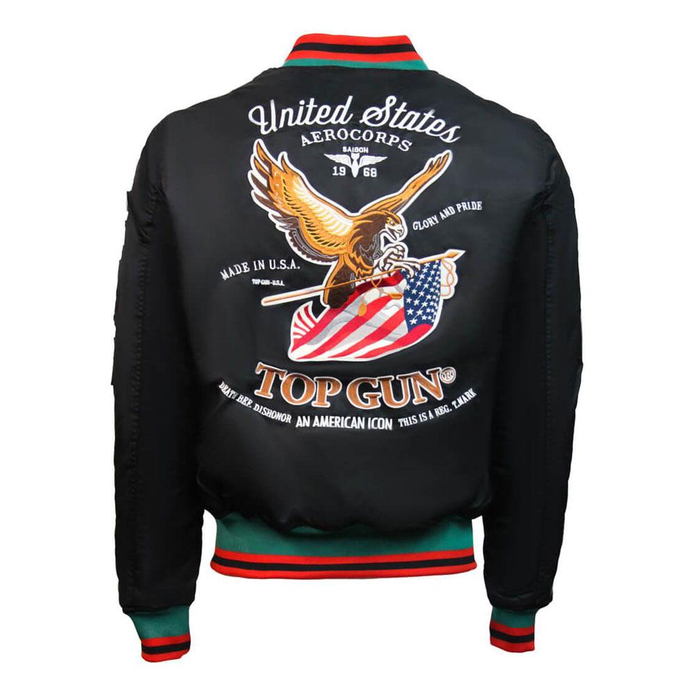 Top Gun Luck Bomber Jacket Black