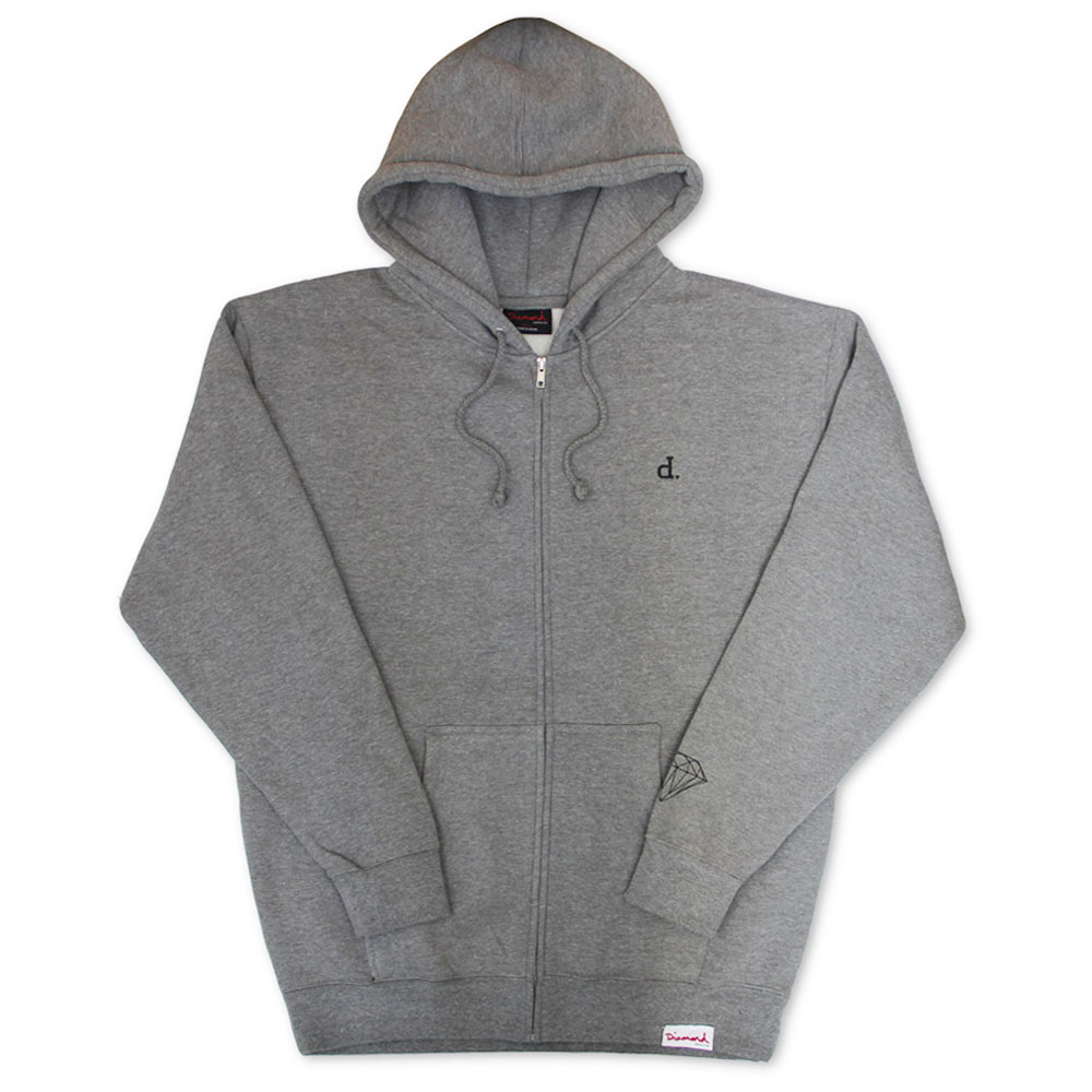 Diamond Supply Co Mini Un Polo Hoodie Grey