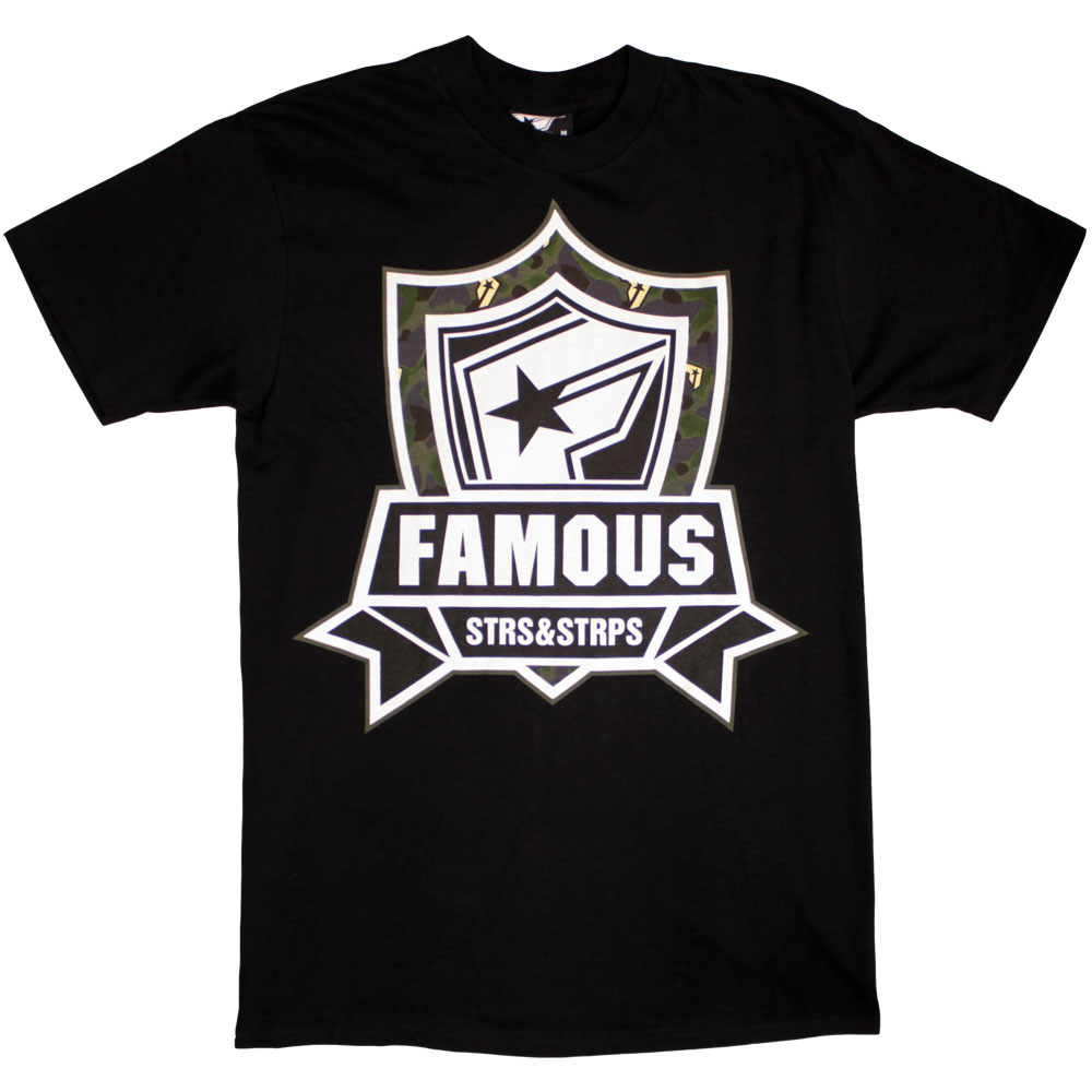 Famous Stars and Straps Mission Camo T-Shirt Black