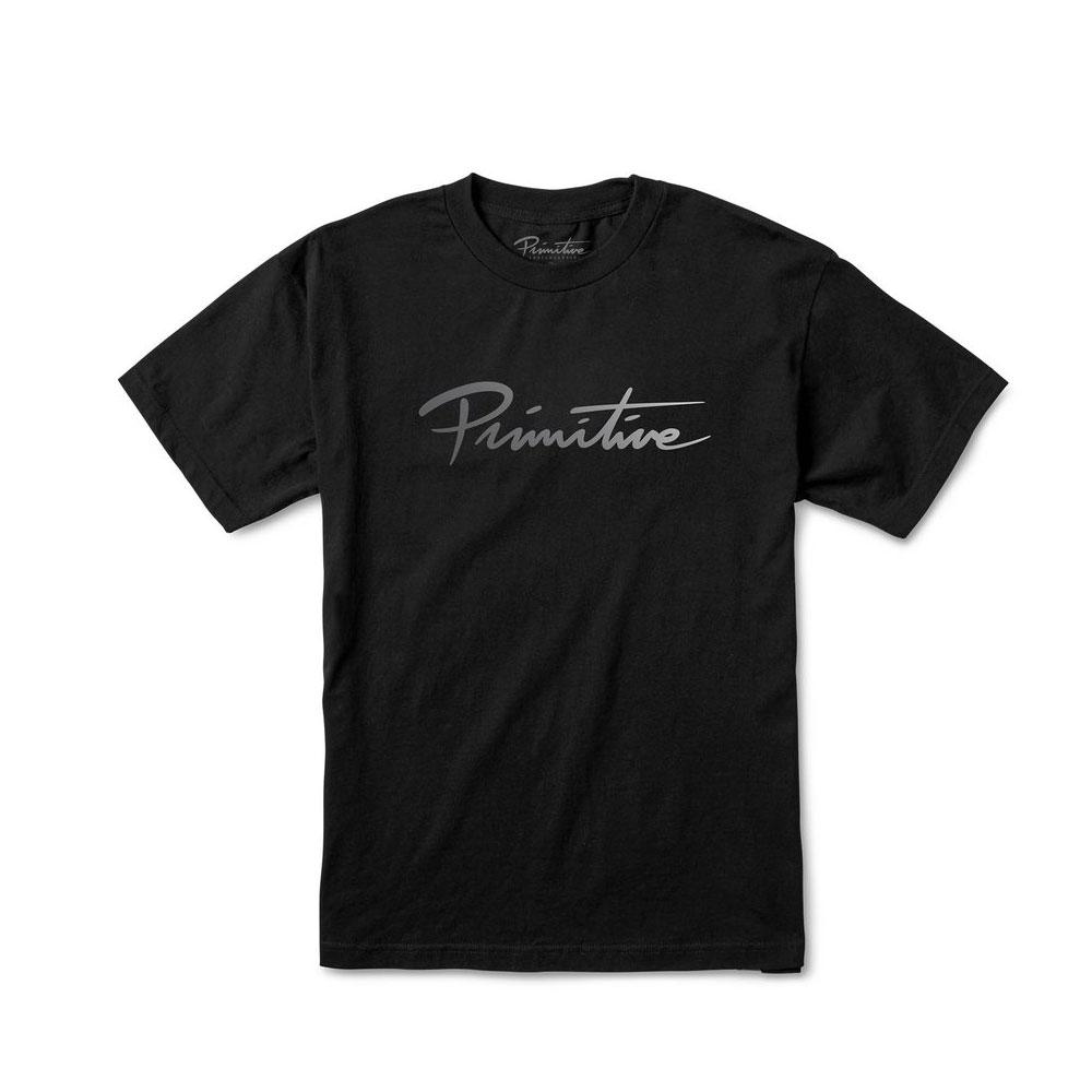 Primitive Apparel Nuevo Script T-Shirt Black Fade
