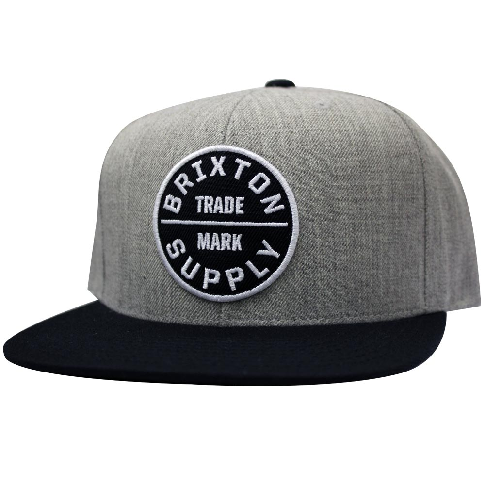 Brixton Oath III Snapback Cap Grey Black