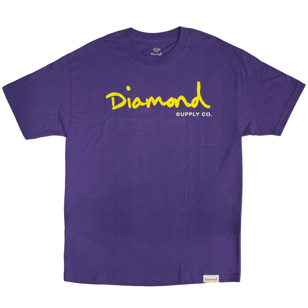 Diamond Supply Co OG Script T-shirt purple