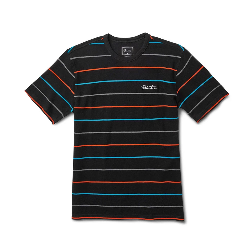 Primitive Apparel Washed Pique Crew T-Shirt Black