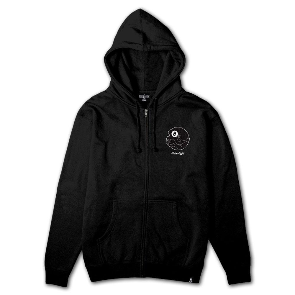Rebel8 Dama Zip Up Hoodie Black