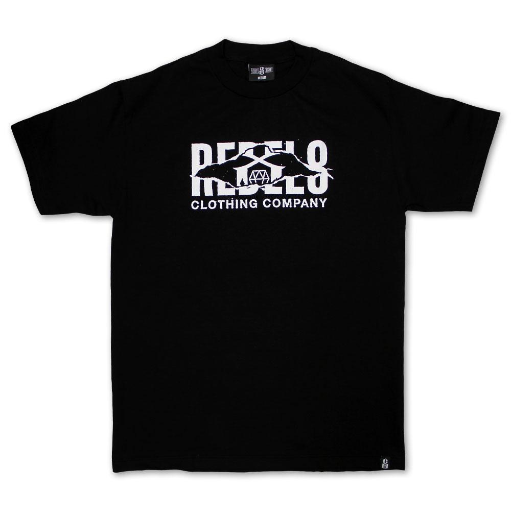 Rebel8 Slashed T-shirt Black