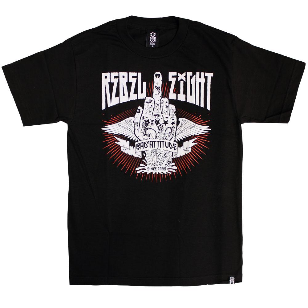 Rebel8 Bad Attitude T-shirt Black