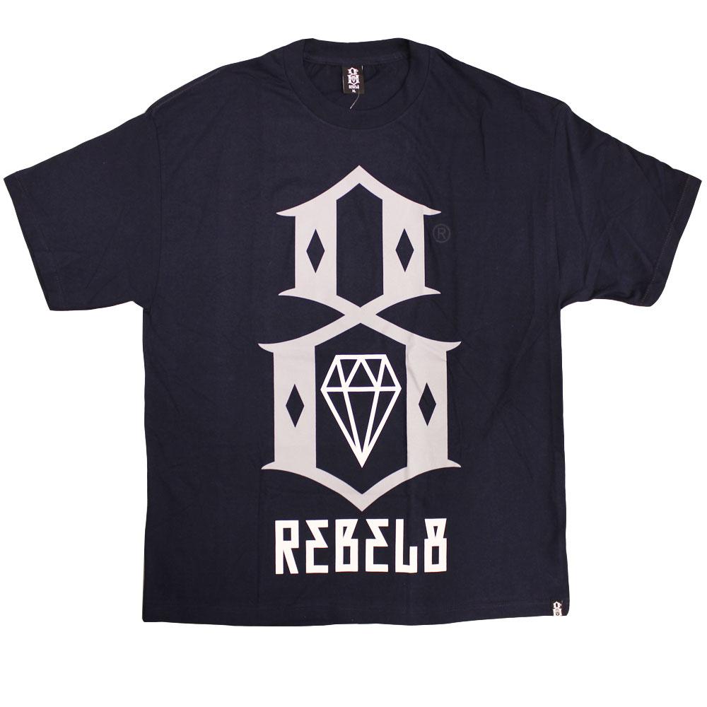 Rebel8 Logo T-shirt Navy