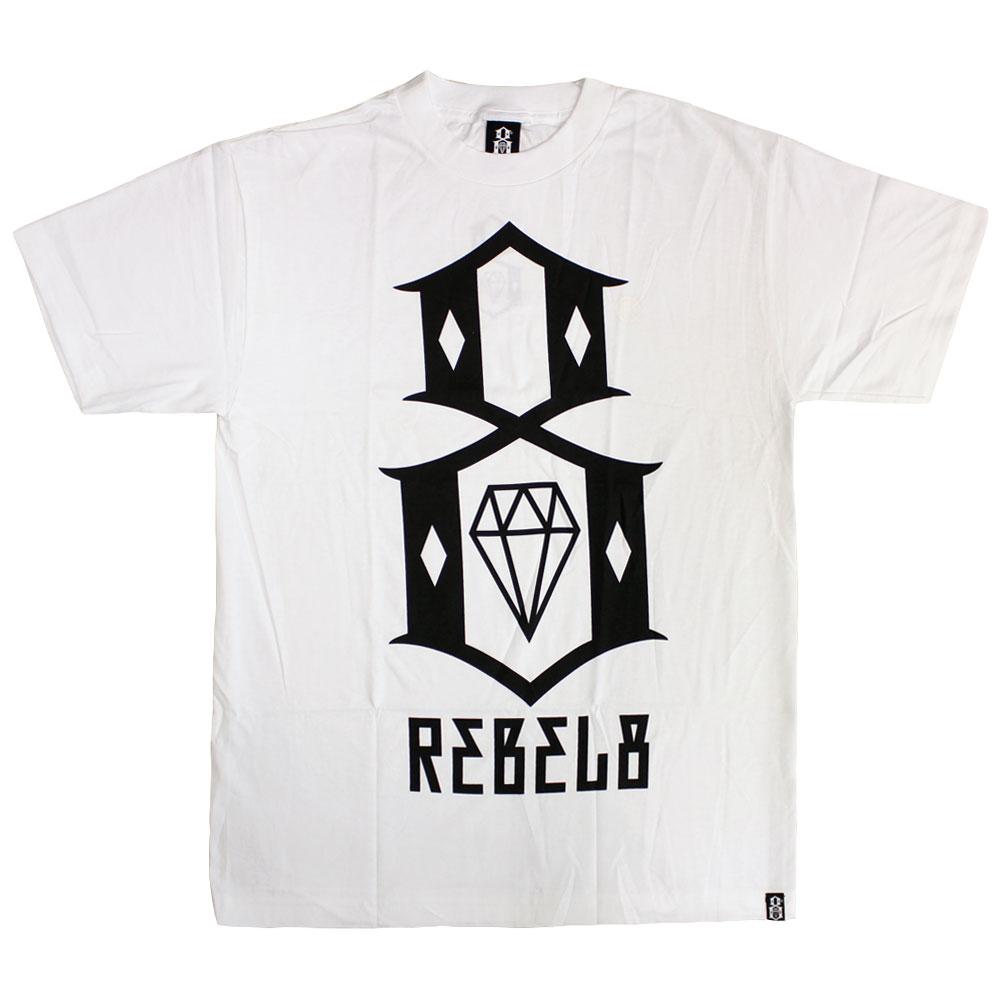 Rebel8 Logo T-shirt White