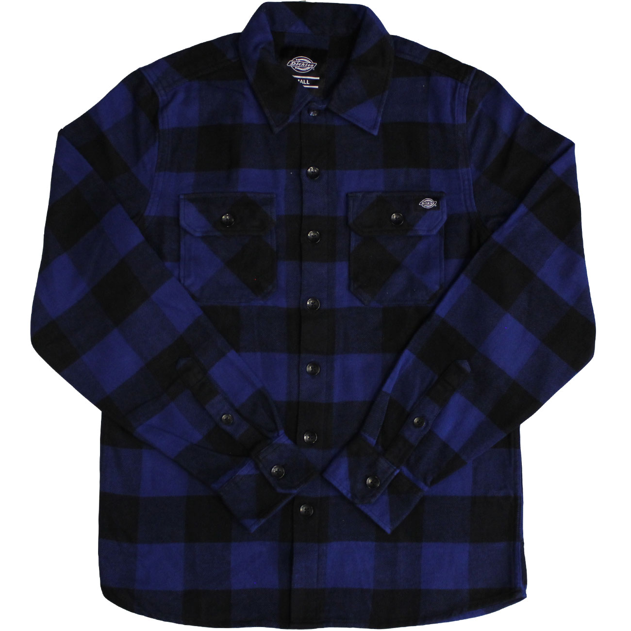 Dickies Sacramento Long Sleeve Flannel Shirt Evening Blue
