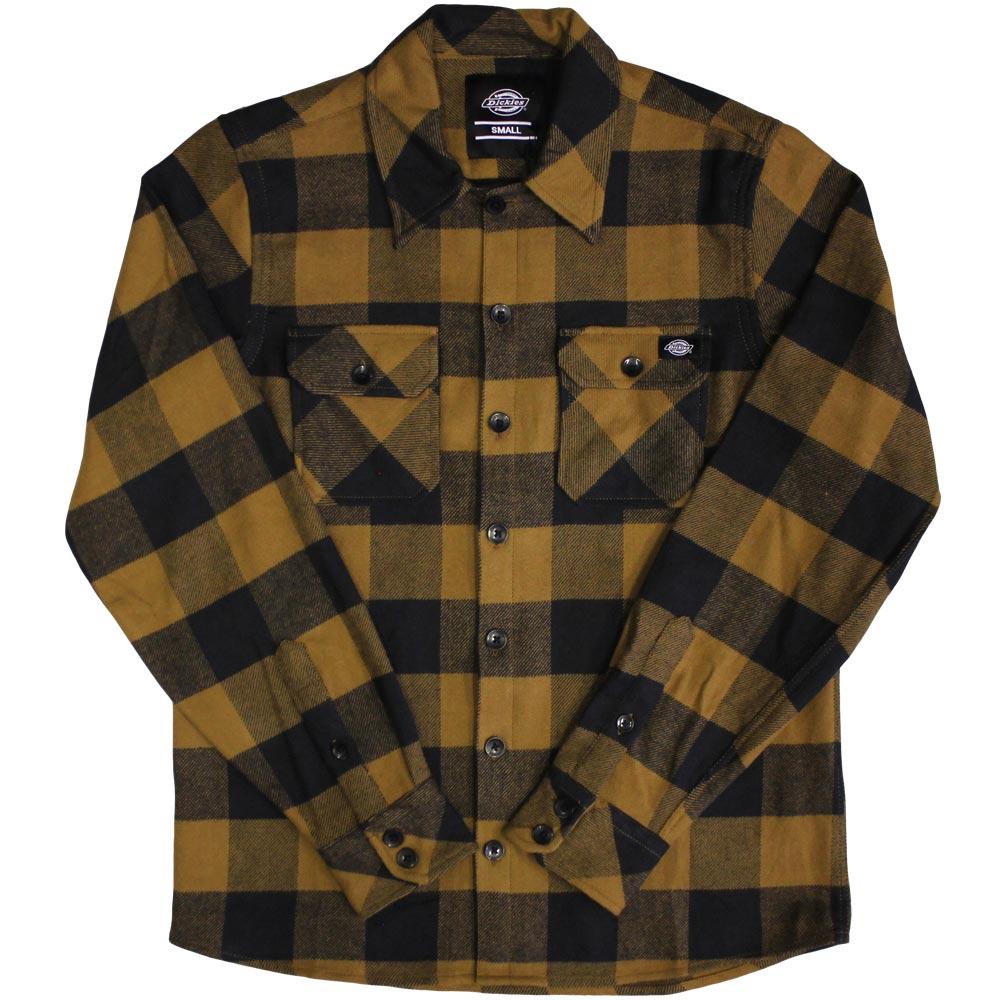 Dickies Sacramento Long Sleeve Flannel Shirt Duck Brown