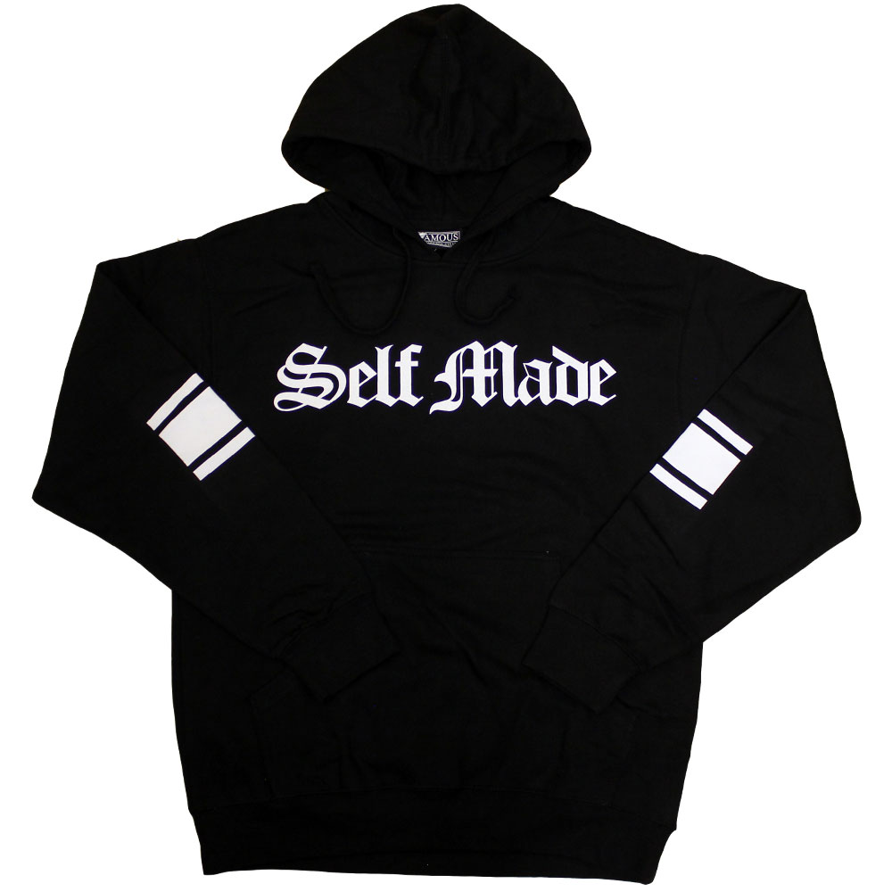 Famous Stars and Straps Self Made Pullover Hoodie Black