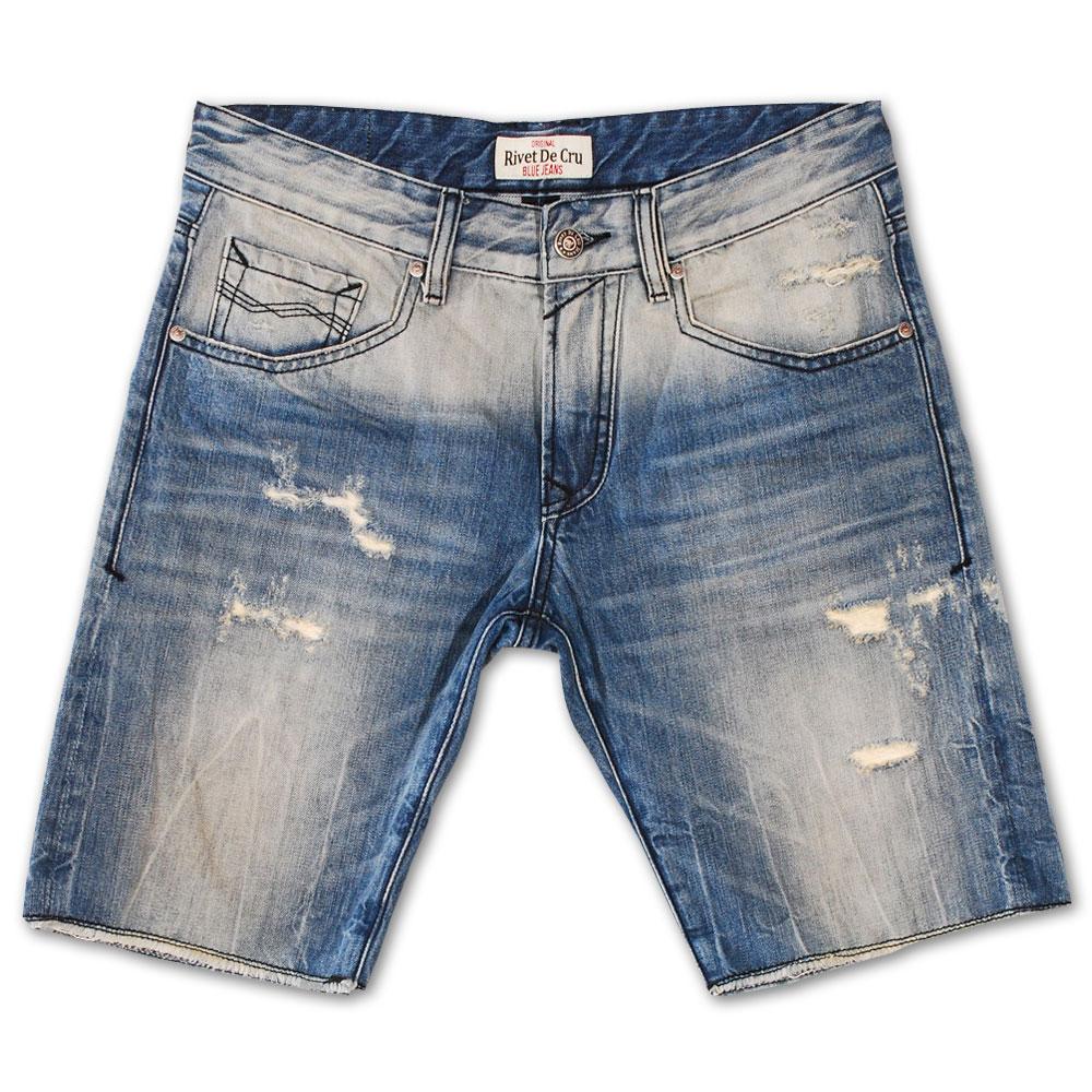 Rivet De Cru Sky Dream Blue Denim Shorts