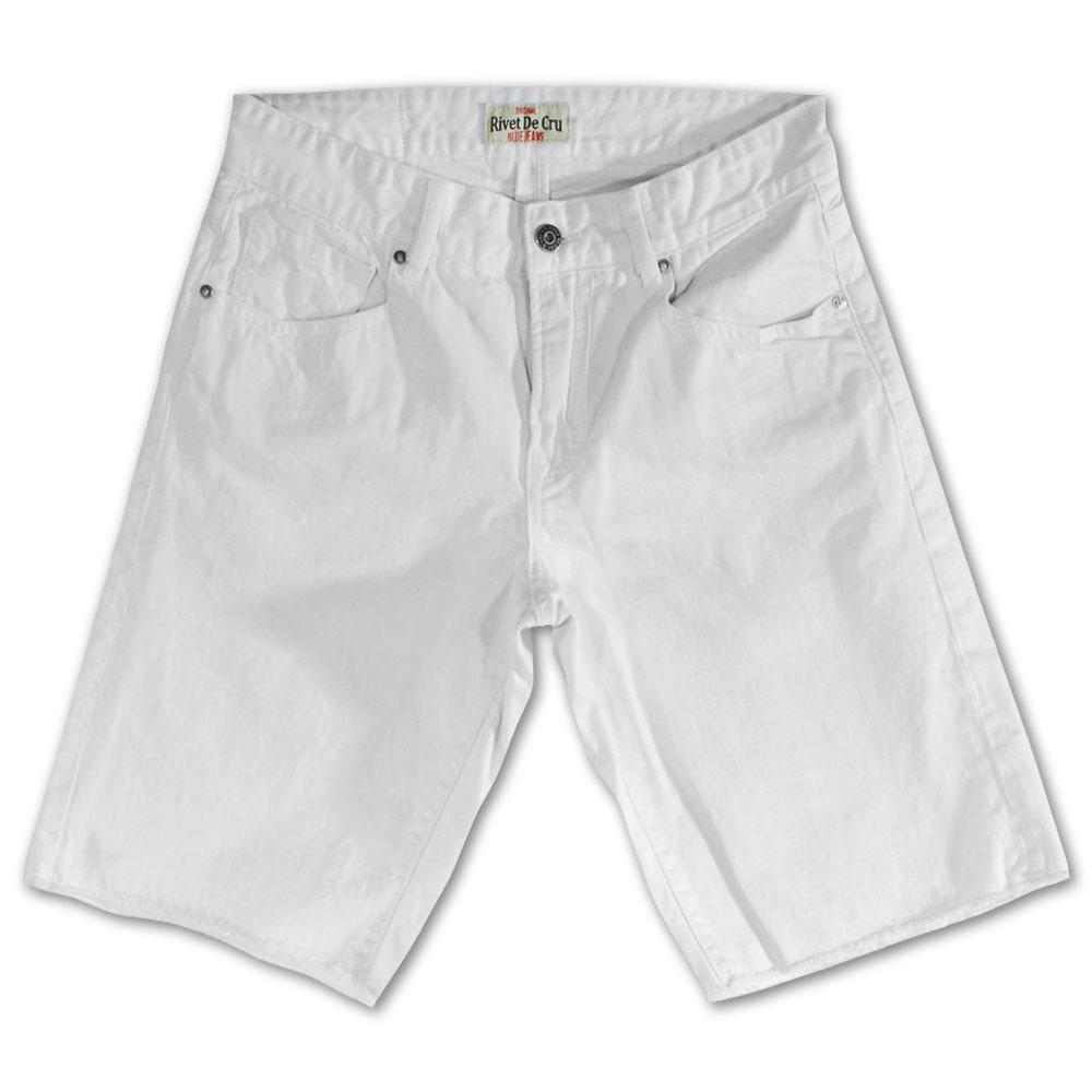 Rivet De Cru Snow White Denim Shorts