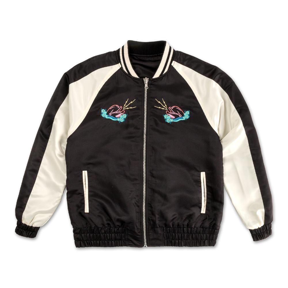 Pink Dolphin Reversible Souvenir Jacket Black