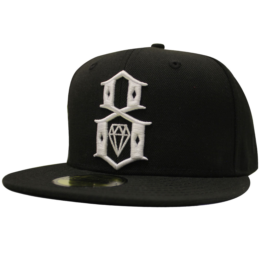REBEL8 Standard Issue Logo New Era Fitted Baseball Cap Black
