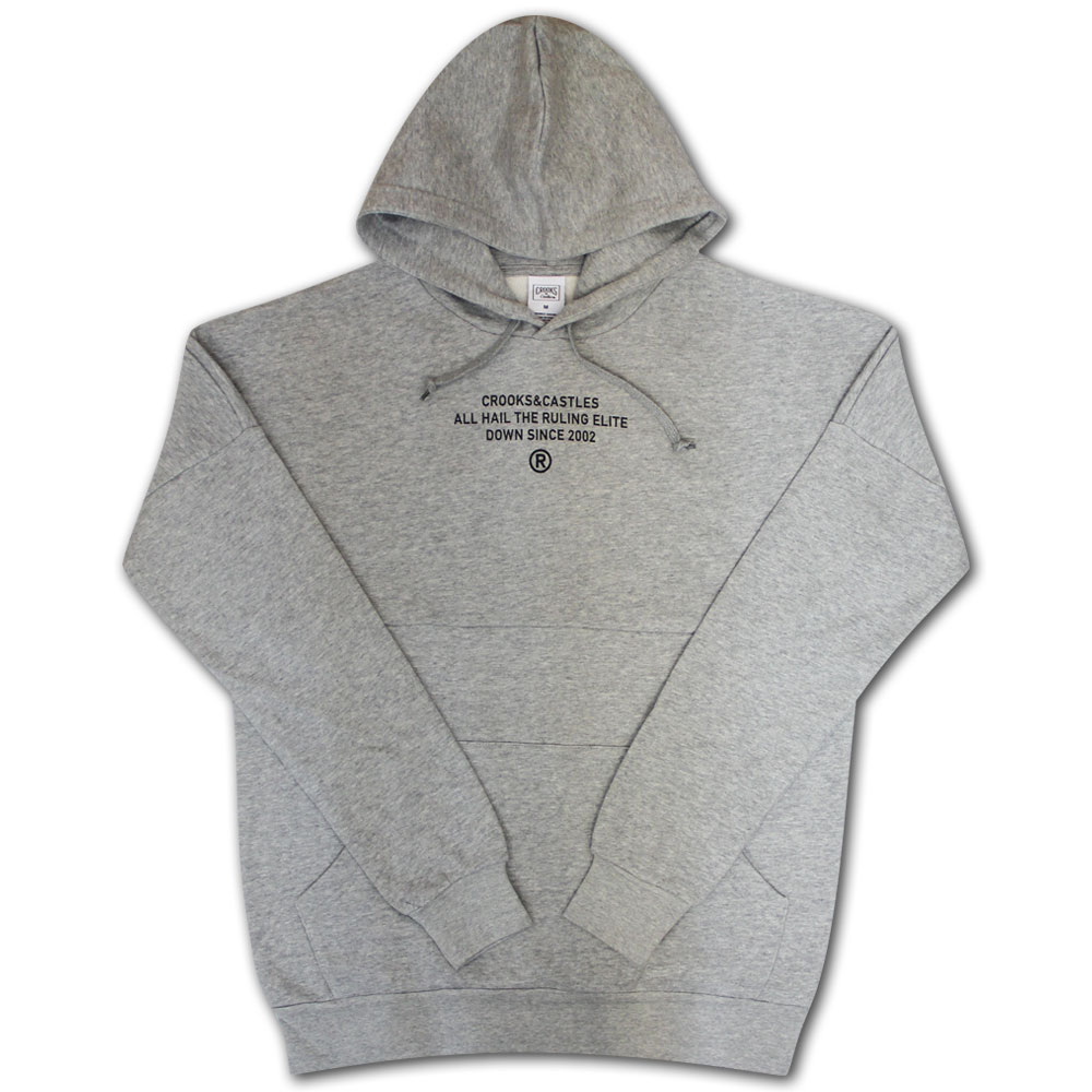 Crooks & Castles Takeover Dolman Pullover Hoodie Grey