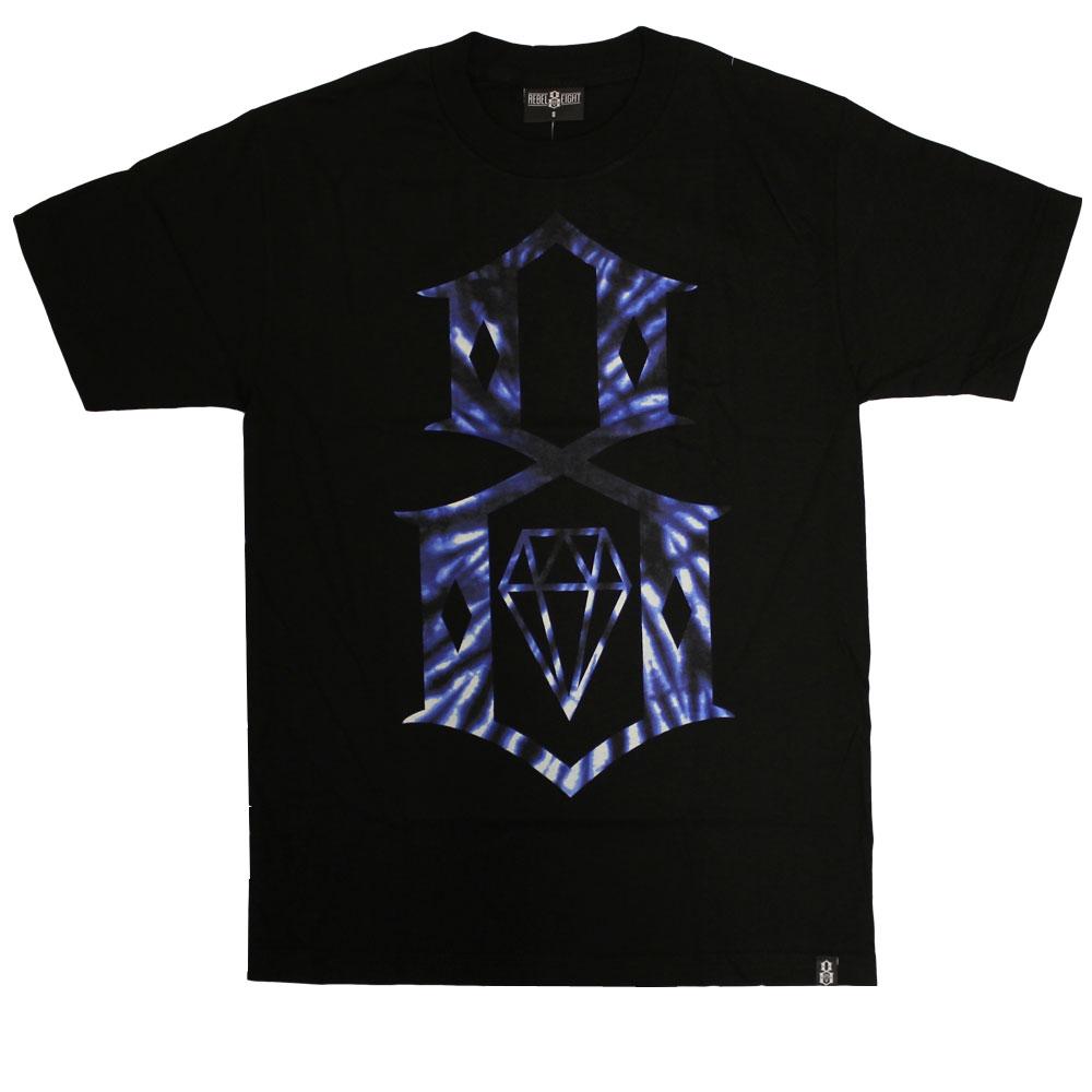 Rebel8 Tie Dye Logo T-shirt Black