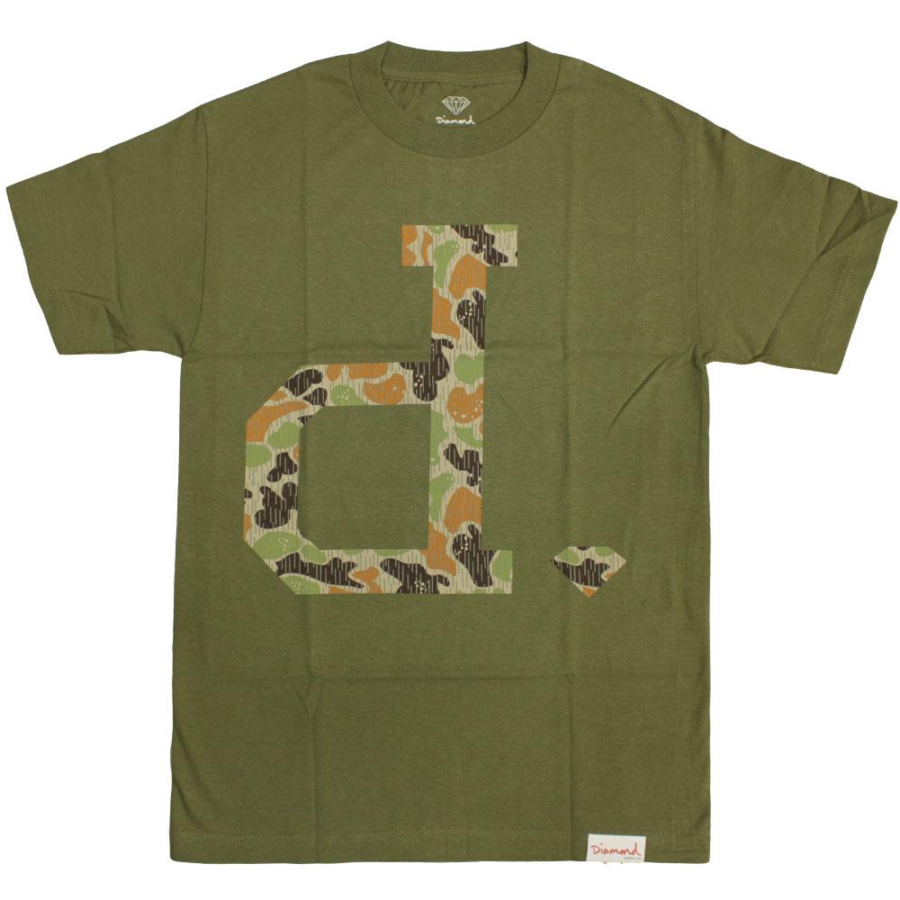 Diamond Supply Co Un Polo Rain Camo T-shirt Green