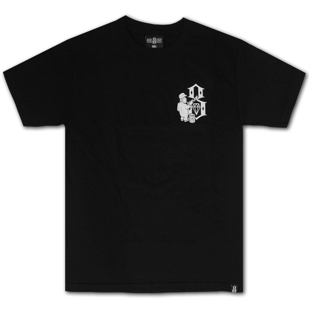 Rebel8 Hit The Walls T-shirt Black