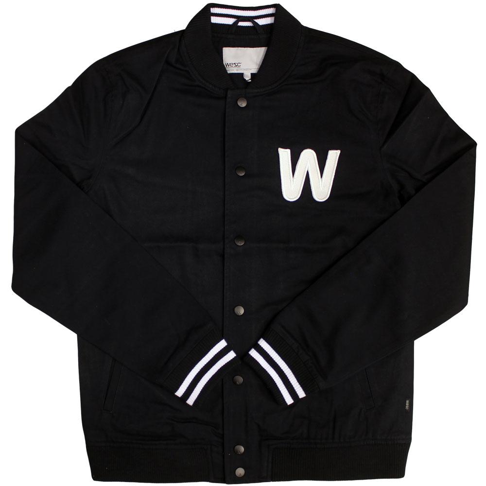 WeSC Silvola Baseball Jacket Black