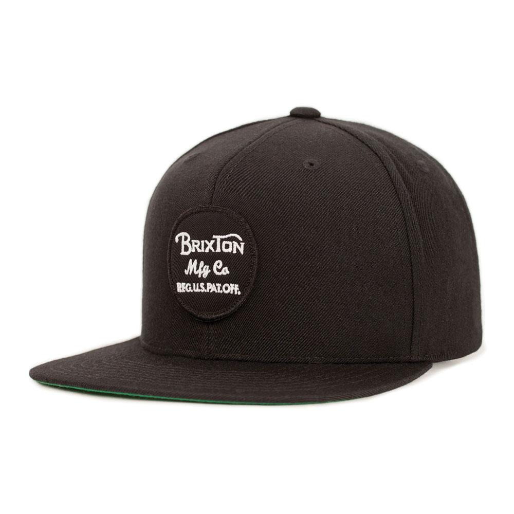 Brixton Wheeler Snapback Cap Black