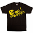 Famous Stars and Straps Family T-shirt Black Yellow