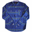 Mishka Flatliner Button Down Long Sleeve Shirt Blue
