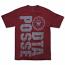 DTA New World Lines T-Shirt Burgundy Grey
