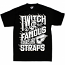 Famous Stars and Straps Twitch Spill T-Shirt Black White
